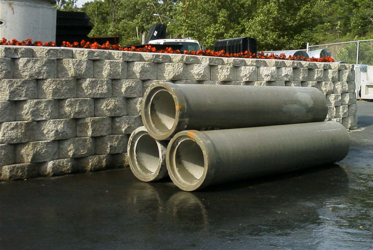 "Concrete Pipe Sizes 12"" through 72"" Ø Mortar Joint or ""O"" Ring Elliptical pipe also available"