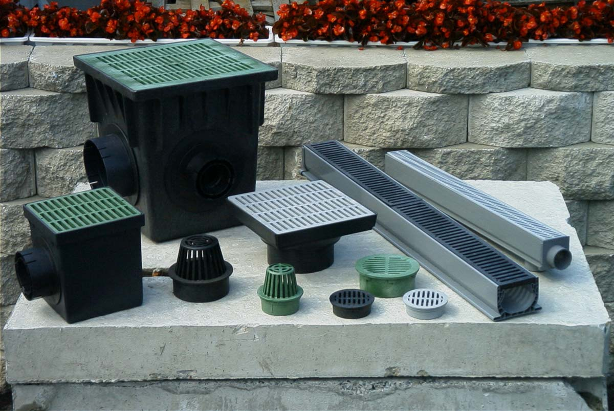 Atrium Grates|Plastic Catch Basins|Low Profile Catch Basin Adapters|PVC Trench Drains